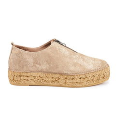 Pals Platform Slip-on Espadrilles - Gold