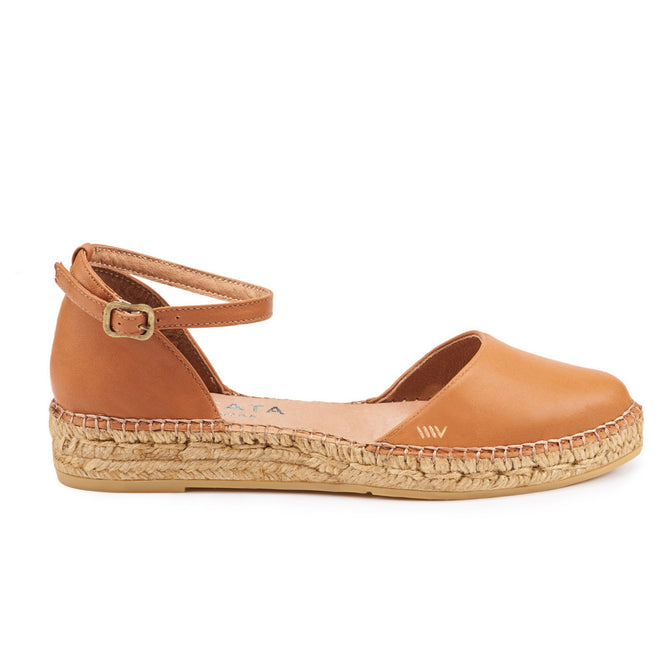 Buy Conca Leather Espadrilles - Sahara Brown online