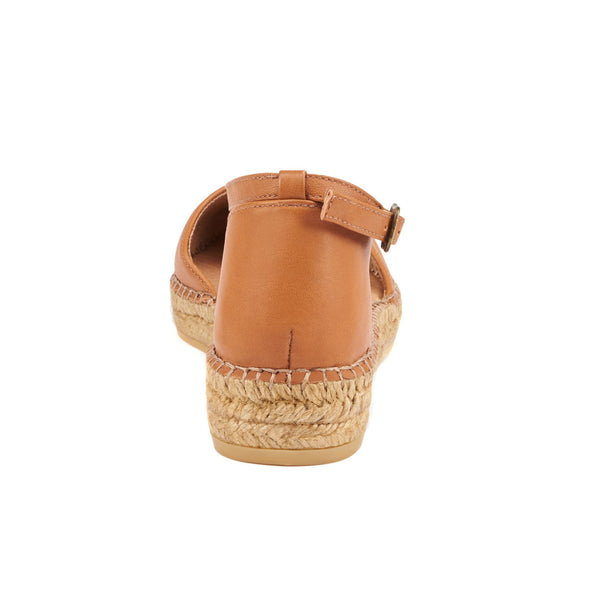 Conca Leather Espadrilles - Sahara Brown