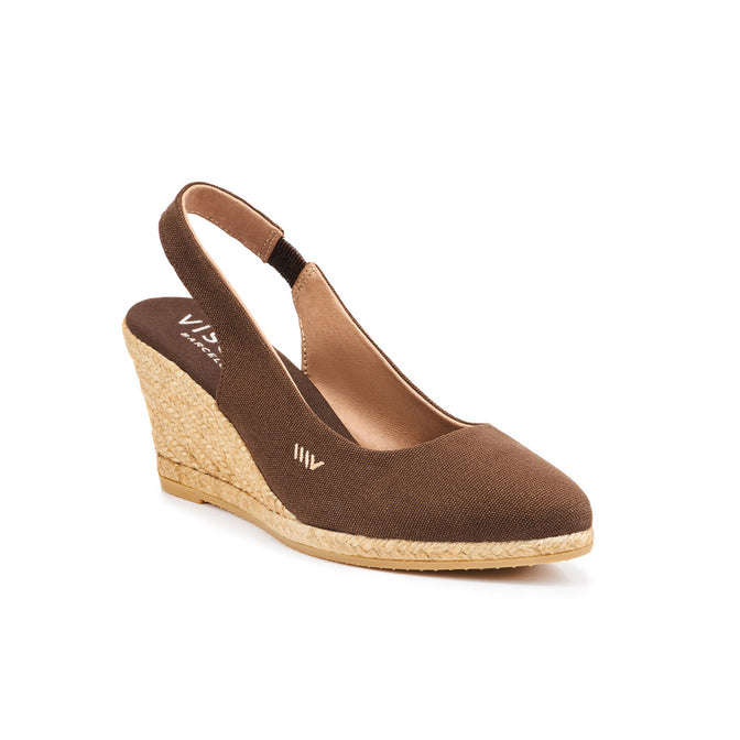 0930cdb084b Lloret Canvas Wedges - Brown - VISCATA