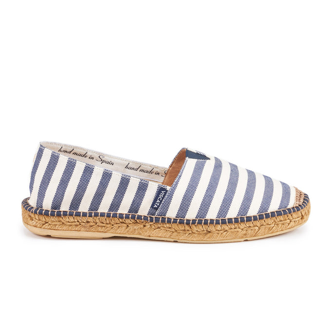 937b79286964 Buy Barcelona Canvas Espadrilles - Navy Stripes (w  Elastic Inseam) online
