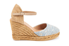 Satuna Wedges - Tweed Blue
