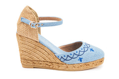Satuna Barcino Wedges - Denim