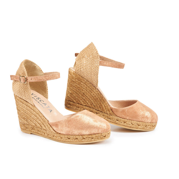 Satuna Leather Wedges - Copper