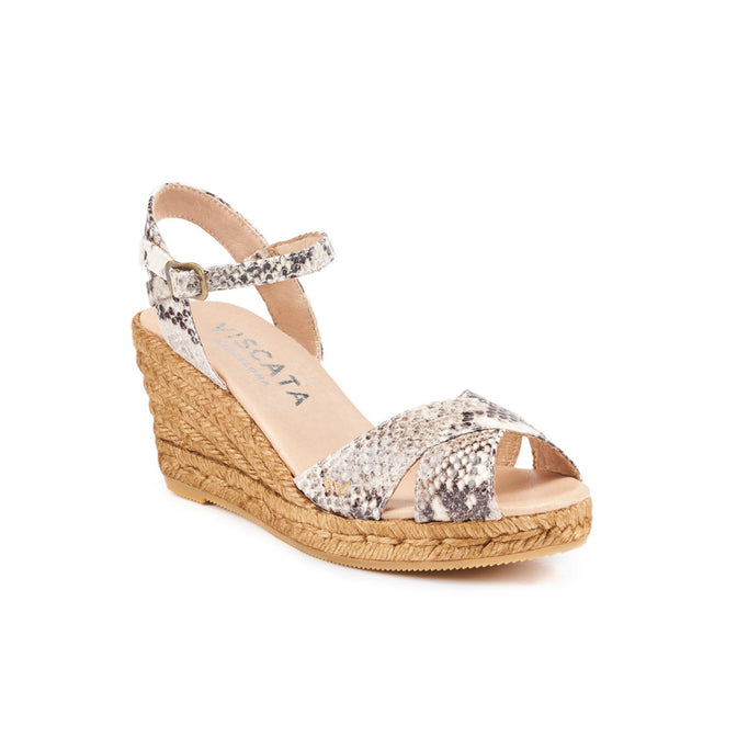 Buy Besalu Leather Wedges - Python online