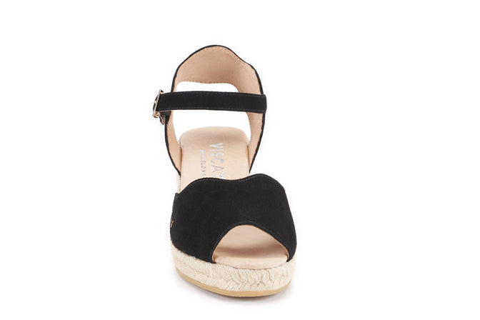 Buy Pedreres Suede Wedges - Black online
