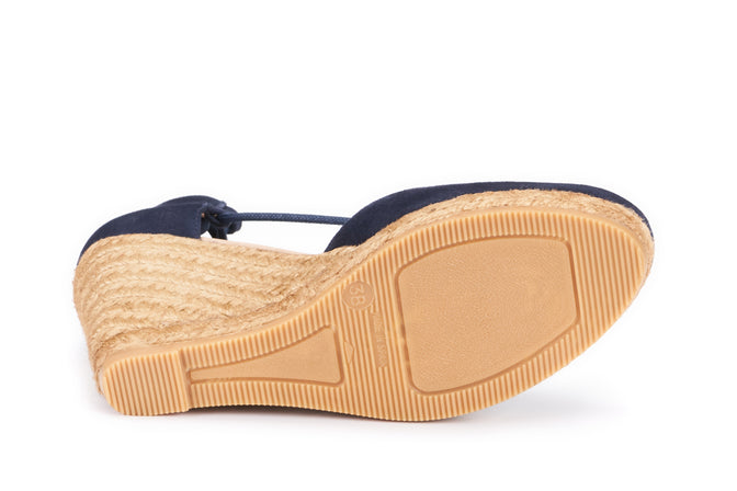 Buy Aro Suede Wedges - Navy online