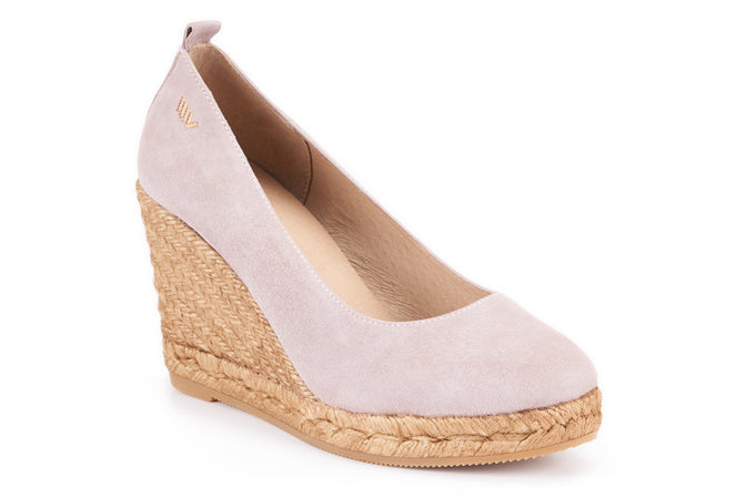 Buy Marquesa Suede Wedge Pumps - Lilac online