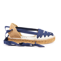 Candell Linen Espadrilles - Ivory Navy