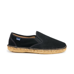 Medes Suede Slip-on Espadrille - Black