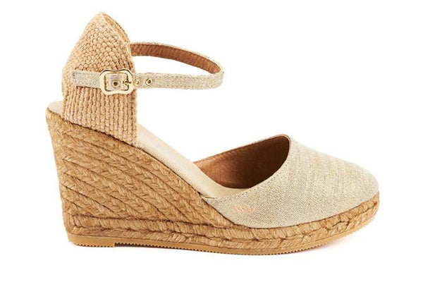 Satuna Canvas Wedges - Gold - VISCATA