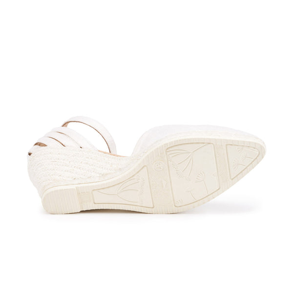 Ullastret Silk Wedges - Ivory