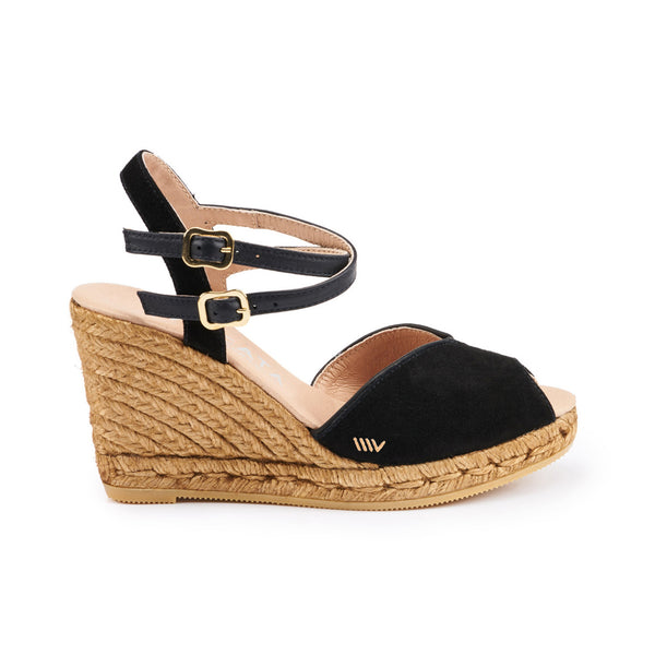 Norfeu Suede Wedges - Black