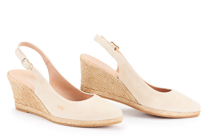 classic fit retail prices exclusive range Palomera Suede Slingback Buckle Wedges by Viscata– VISCATA