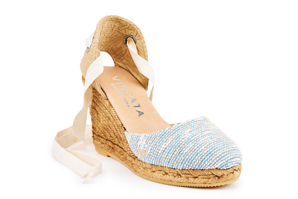 Sagaro Wedges - Tweed Blue