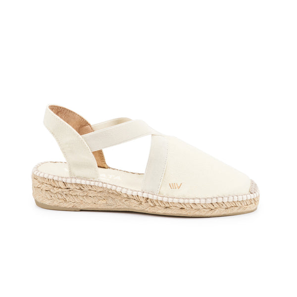 Cadaques Espadrille Wedges - Ivory