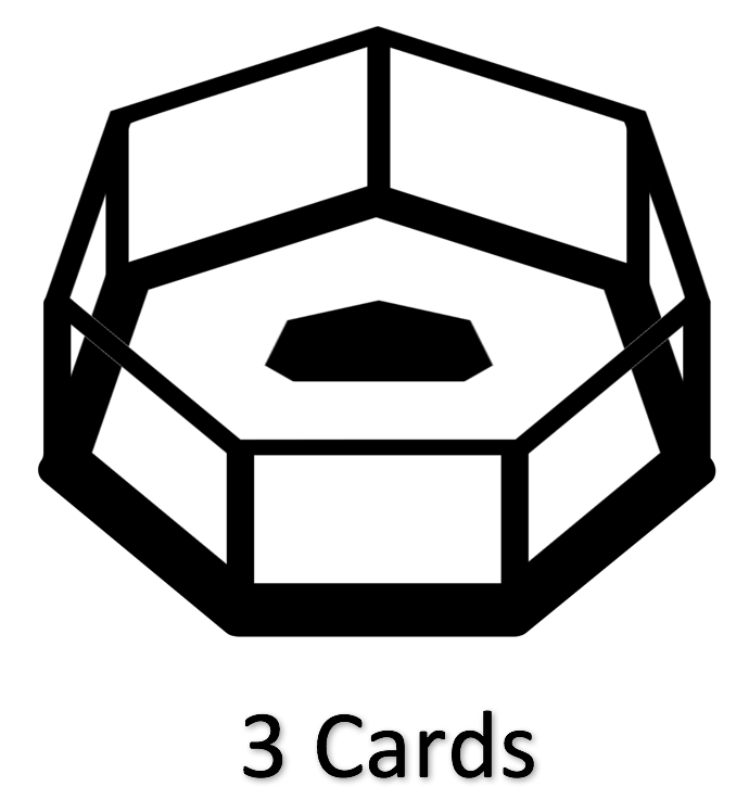 3 MMA Cards