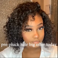 Brazilian  370 Water Wave Lace Wigs Short Human Hair black bob Wigs Lady Wig