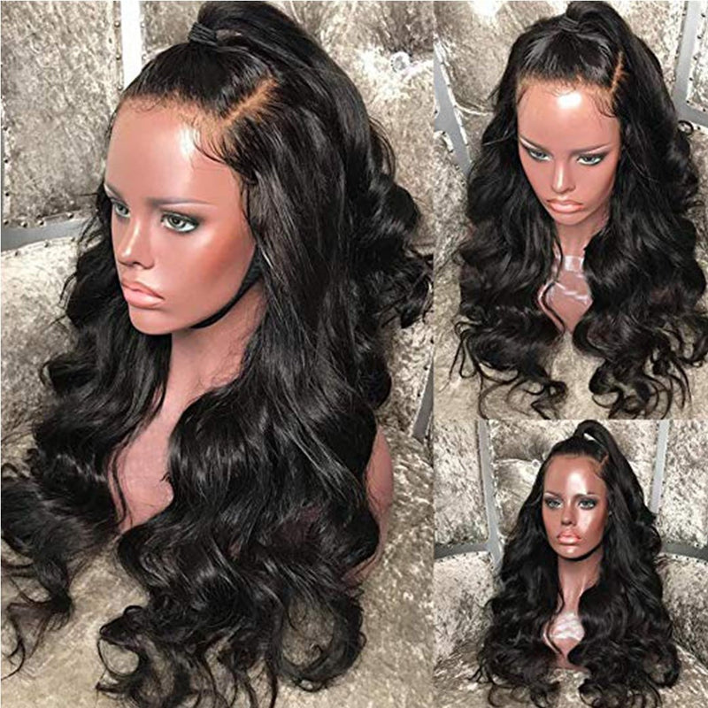 Wave rubber-free front lace real hair wig hair