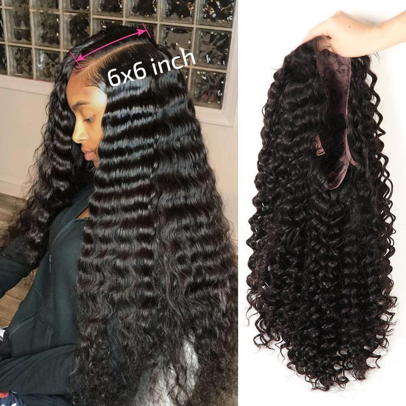 Brazilian Remy Natural Lace Front human Hair  Curls Wigs Lady Wig