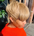 African American Super Short Straight Wig for Black Women
