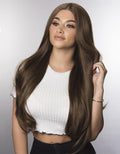 "SYNTHETIC WIG ARIANNA 20""-24"" 295G Chocolate Brown STRAIGHT"