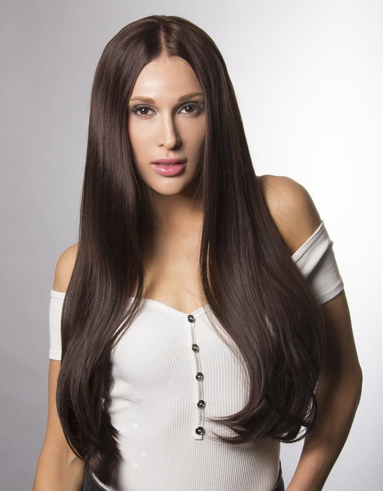 "SYNTHETIC BROWN WIG ISABELLA 20""-24"" 295G STRAIGHT"