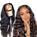 Brazilian Human Hair 360 Lace  Wave Wigs Lady Wig