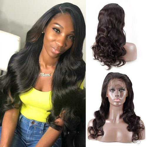 Wave Lace Front Human Hair Wigs For Black Women Pre Picked Hairline With Baby Hair