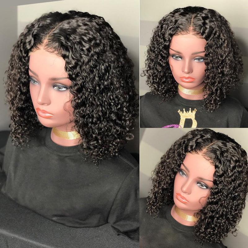Curly Bob Lace Front Wigs For Women Kinky Curly Lace Front Wig 360 Lace Frontal Wig Brazilian Curly Human Hair Wigs