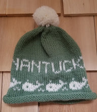 Load image into Gallery viewer, Handknit Nantucket Baby PomPom Hat