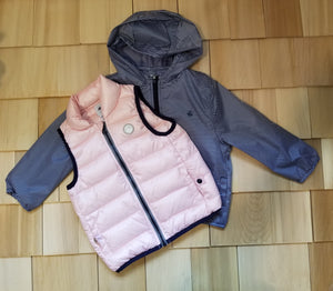 Girl's 2 in 1 Striped Jacket and Vest