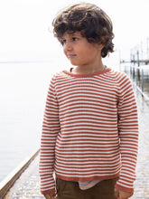 Load image into Gallery viewer, Stripe Cotton Sweater - Spice and Off White
