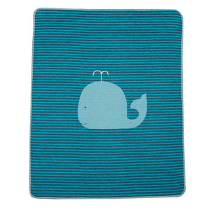 Whale Thin Stripes Blanket