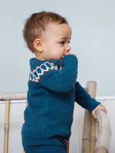 Load image into Gallery viewer, Alpaca Raglan Sweater in Blue