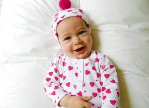 Baby Lots of Hearts One Piece with Hat