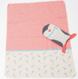 Penguin Pillow and Blanket Set