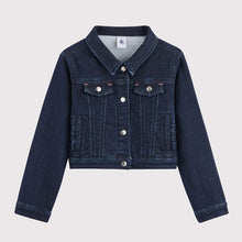Load image into Gallery viewer, Girls Short Fitted Denim Jacket