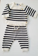 Load image into Gallery viewer, Baby 2 Piece Stripe Sweater and Pant Set