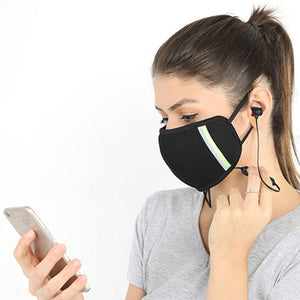 Reusable Outdoor Protection Face Mask with Bluetooth Earphone Earbuds Earpiece Headphones headset Auriculares Audífonos Fones De Ouvido