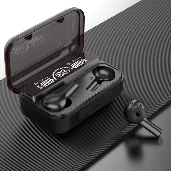 BTH 278 Wireless Bluetooth Ear Hook Earbuds Wire Less Ear Buds Anc Noise Cancelling Headphones Charging Case with Mobile Power