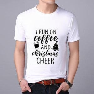 Funny Santa Claus print MEN T-shirt Top Tees Christmas tshirt Christmas Print Men T Shirt  Santa Claus Tee Shirt 2019