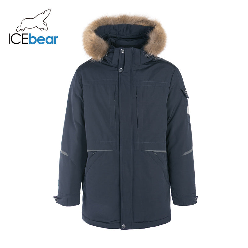 ICEbear 2019 New Winter Men's Coat Hooded Jacket High Quality Brand Men's Clothing MWD19805I