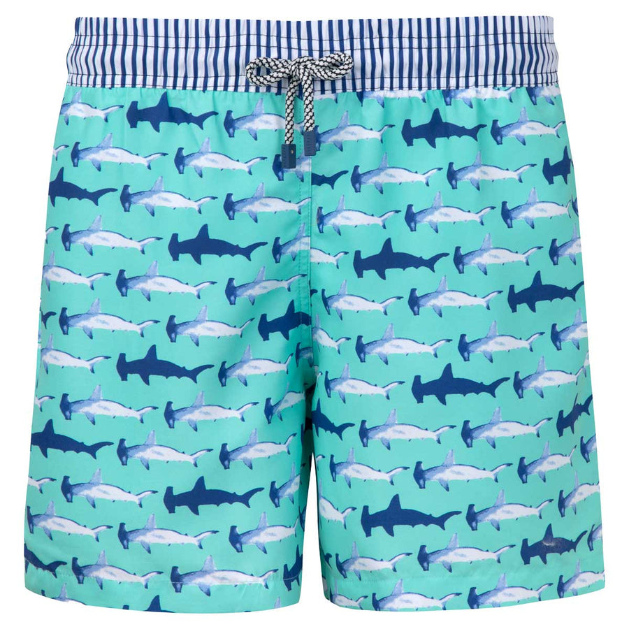 Aquamarine Hammerhead Sharks Men Boardshorts