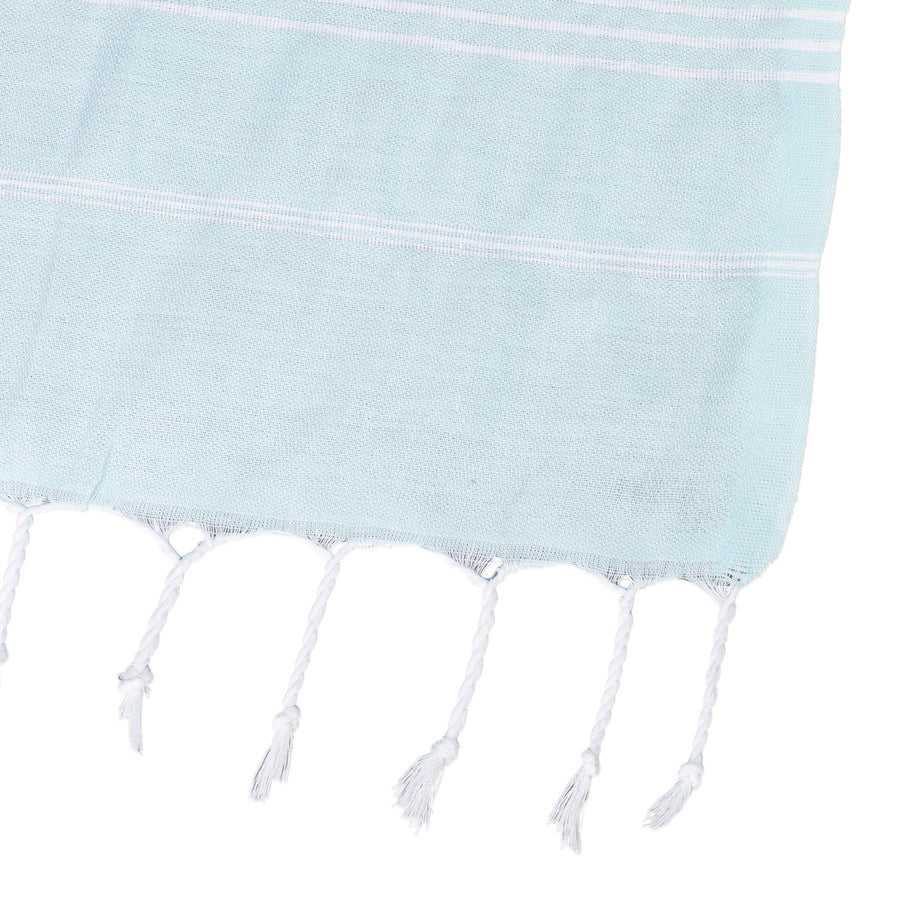 Baby Blue Thin Turkish Towel Tolu Australia Corner