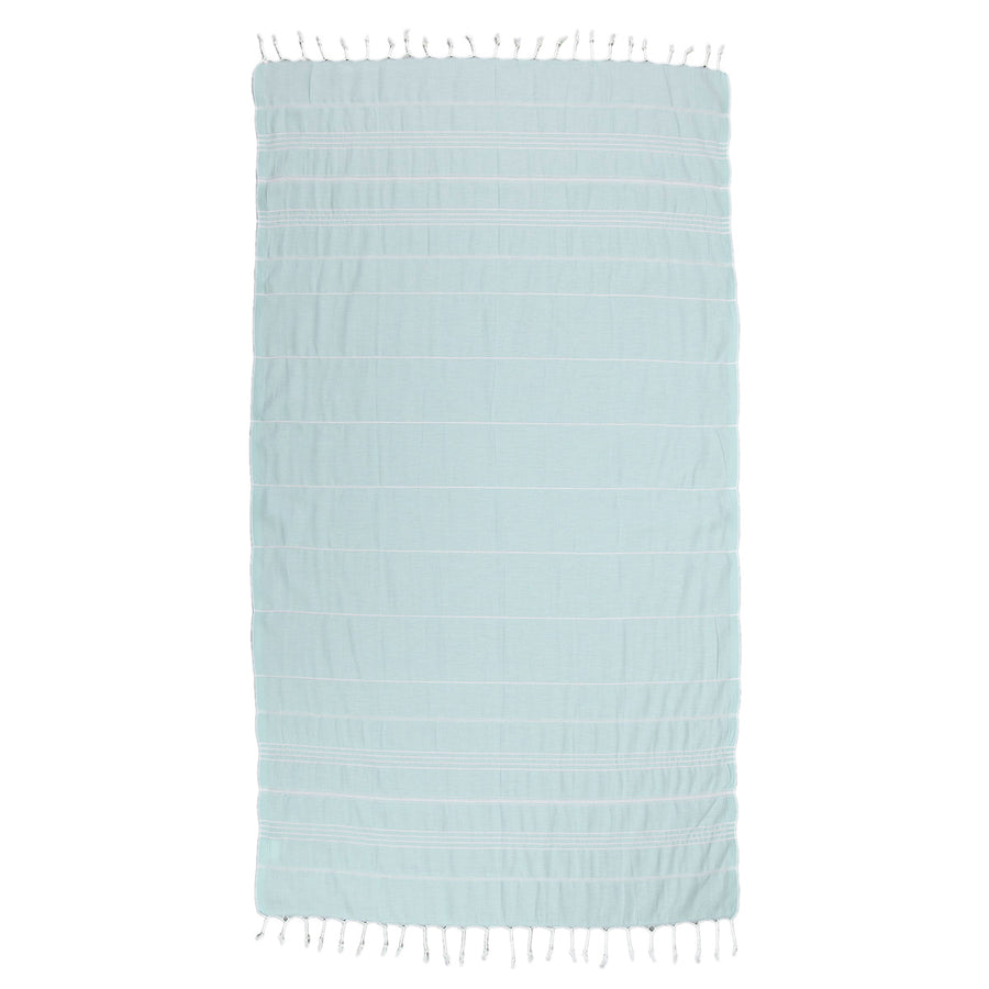 Baby Blue Thin Turkish Towel Tolu Australia Full