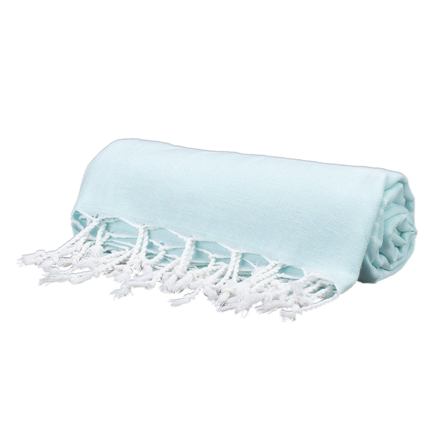 Baby Blue Thin Turkish Towel Tolu Australia Roll