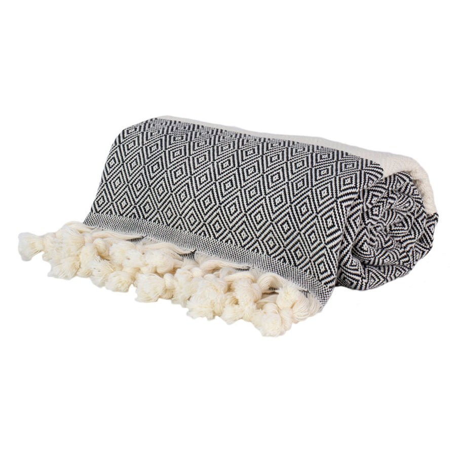Black-and-White-Turkish-Towel-Roll-Tolu-Australia