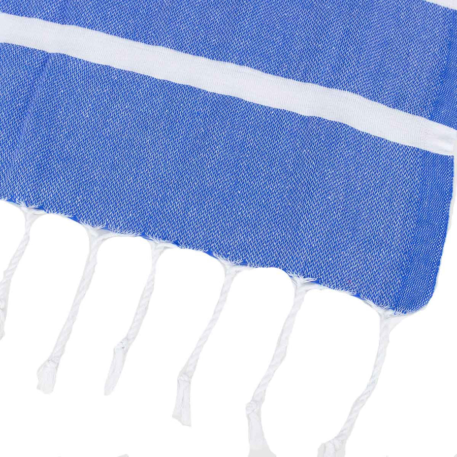 Blue and White Thin Turkish Towel tolu australia