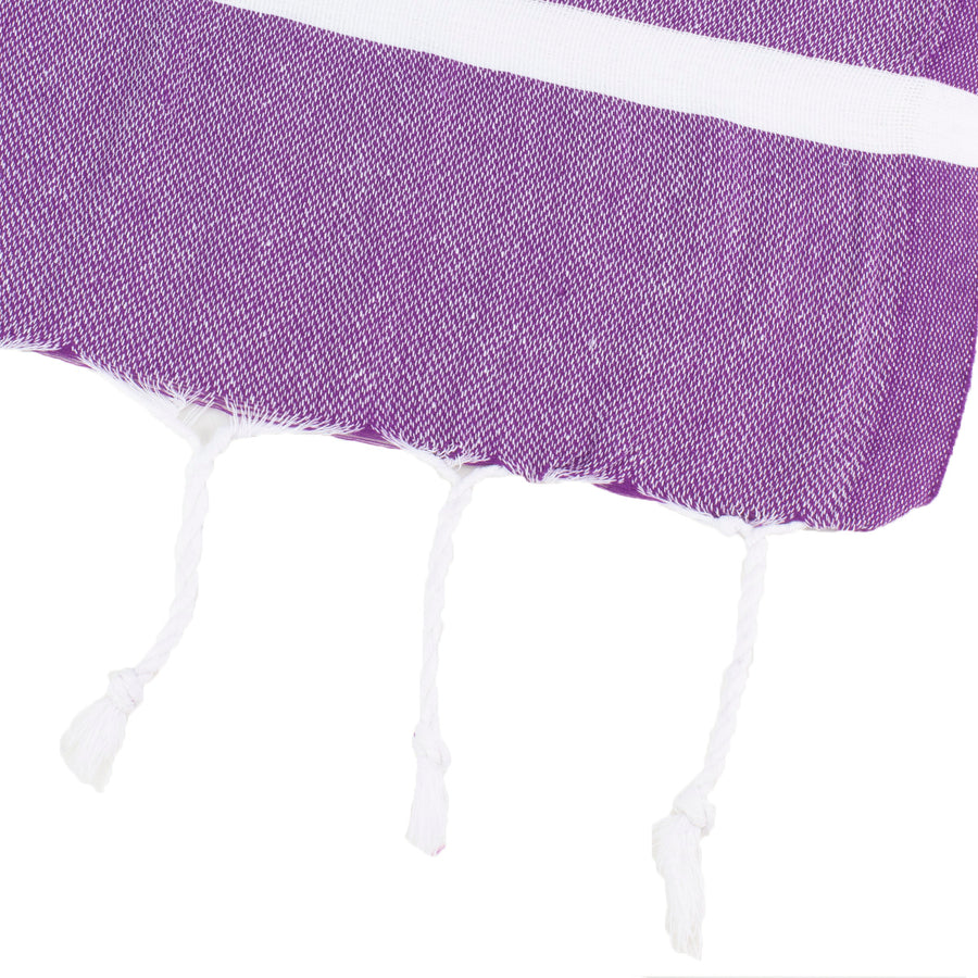 Dark Purple Thin Turkish Towel Tolu Australia Corner